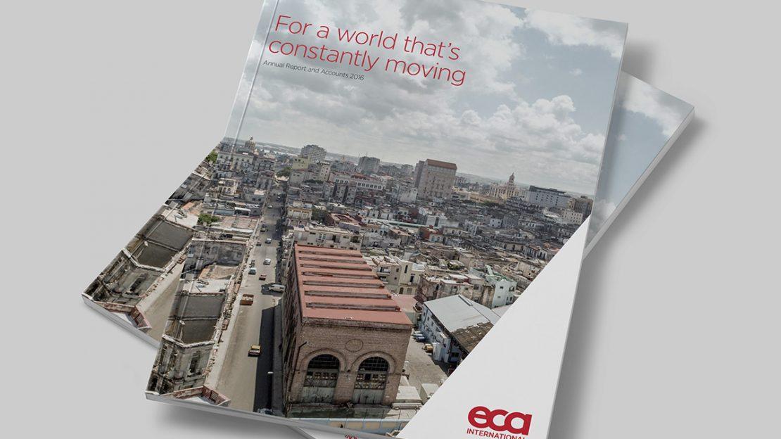 TA2 Design – ECA Annual Report Cover