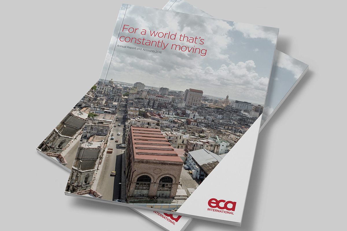 TA2 Design – ECA Annual Report Cover