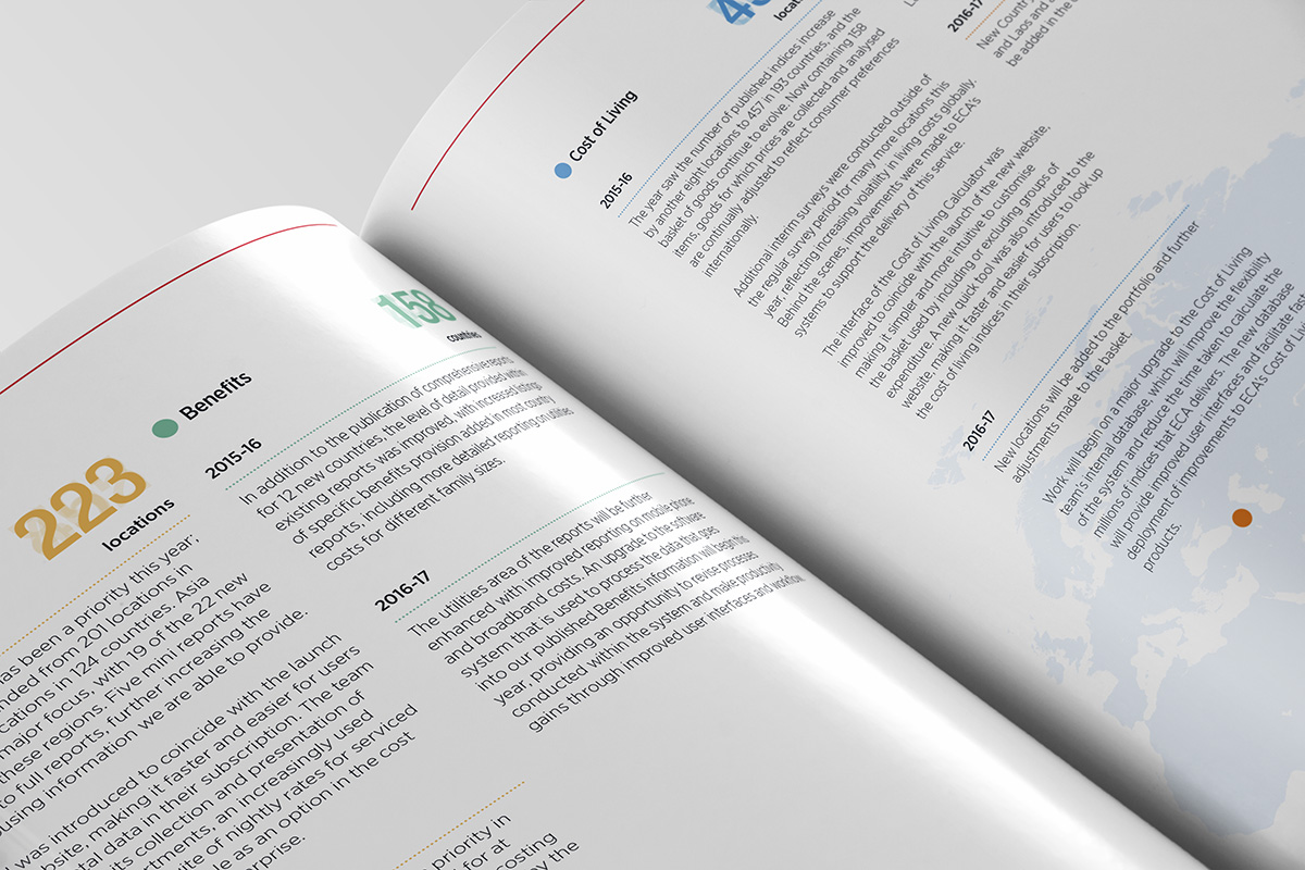 TA2 Design – ECA Annual Report Spread