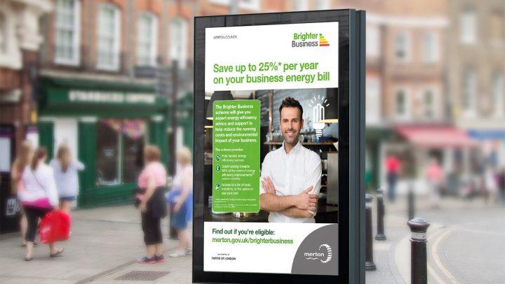 TA2 Design – Brighter Busines bus stop poster – Displays