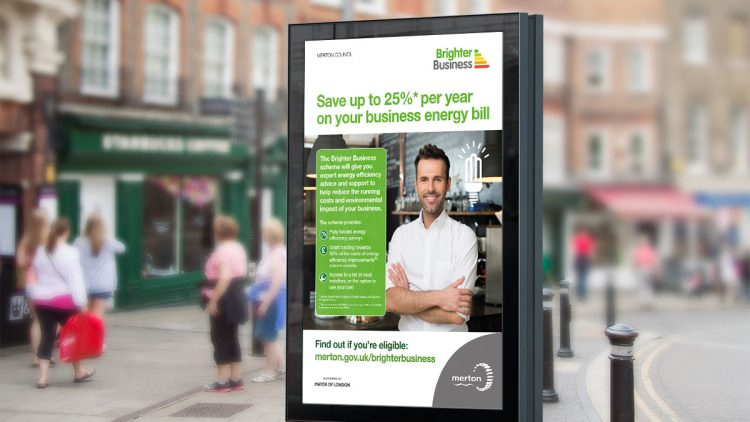 TA2 Design – Brighter Busines bus stop poster – Displays