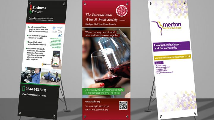 TA2 Design – Various Pull up Banners