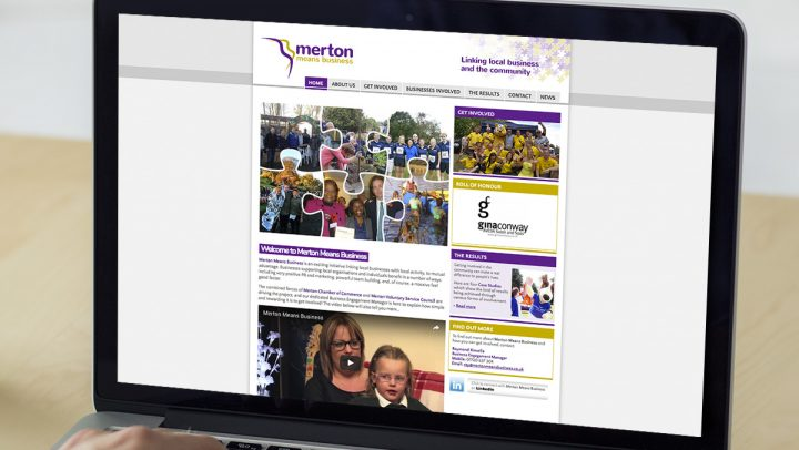 TA2 Design - design and marketing for web – Merton Means Business website