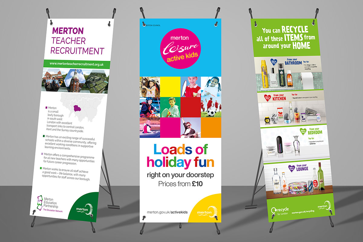 TA2 Design – Merton Borough Pull up Banners