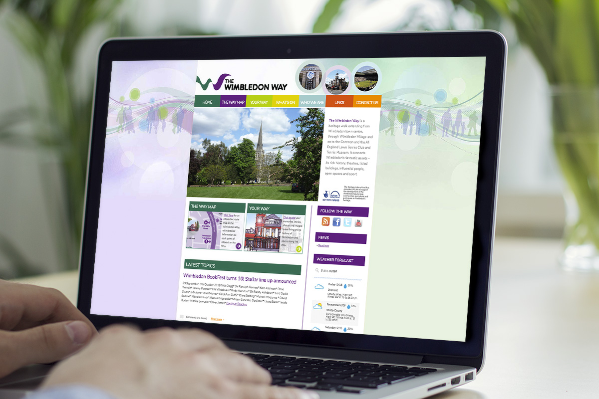 TA2 Design - design and marketing for web – The Wimbledon Way website