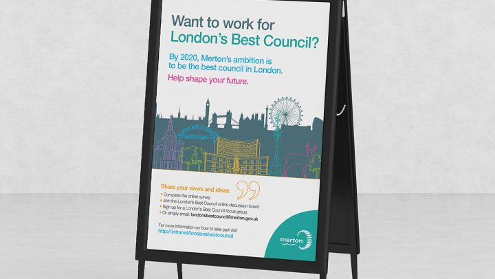 TA2 Design – Merton Borough Poster