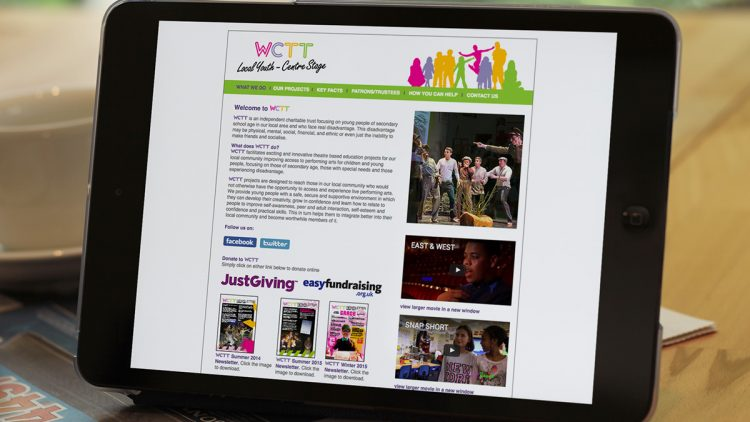 TA2 Design - design and marketing for web – Wimbledon Civic Theatre website