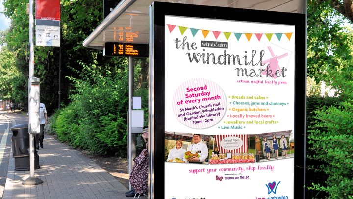 TA2 Design – Love Wimbledon bus stop poster – Displays