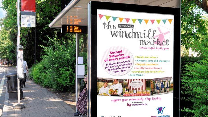 TA2 Design – Love Wimbledon bus stop poster – Displays