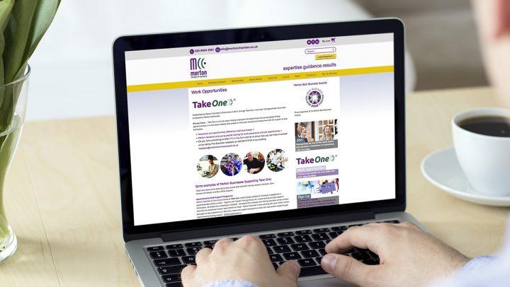 TA2 Design - design and marketing for web – Merton Chamber of Commerce website