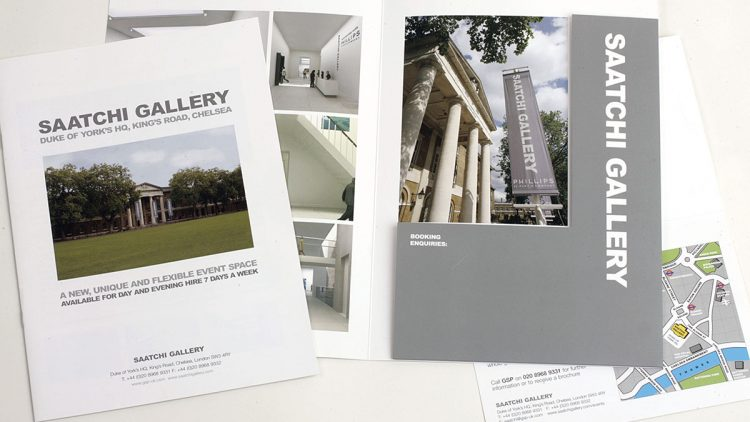 TA2 Design – Saatchi Gallery Brochure